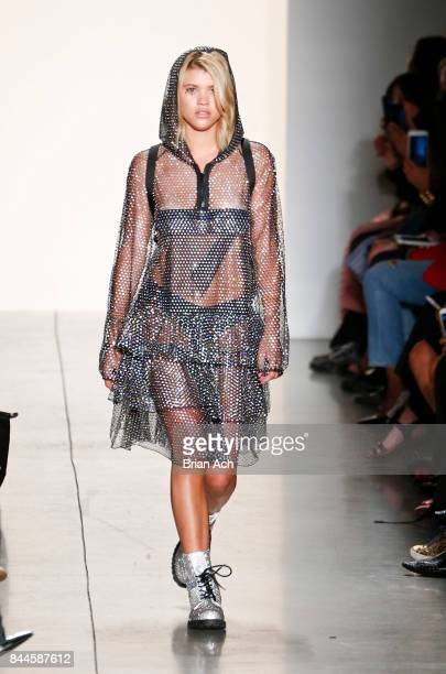 Model Sofia Richie walks the runway during the Jeremy Scott fashion show during during New York Fashion Week at Spring Studios on September 8 2017 in...