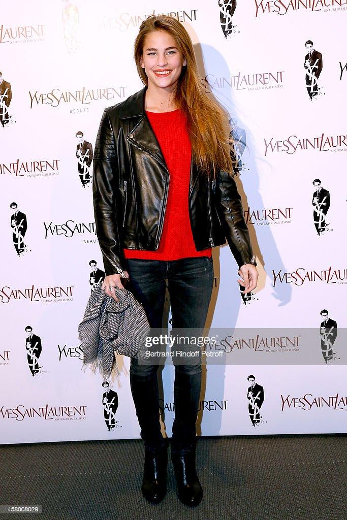 Model Solene Hebert attends the 'Yves Saint Laurent' Paris movie Premiere at Cinema UGC Normandie on December 19, 2013 in Paris, France.