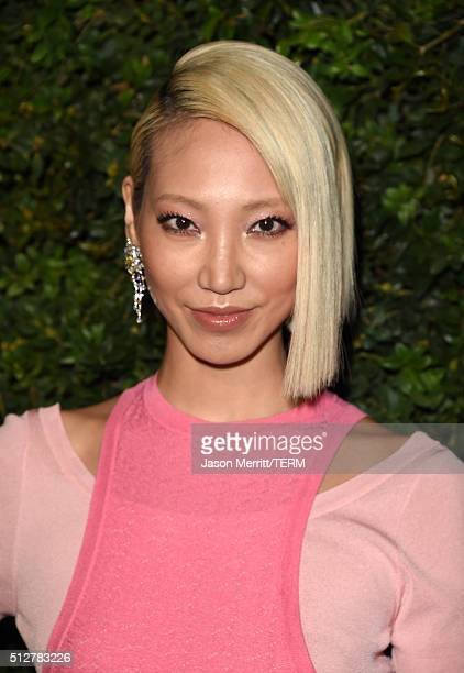 Model Soo Joo Park attends the Charles Finch and Chanel PreOscar Awards Dinner at Madeo Restaurant on February 27 2016 in Los Angeles California