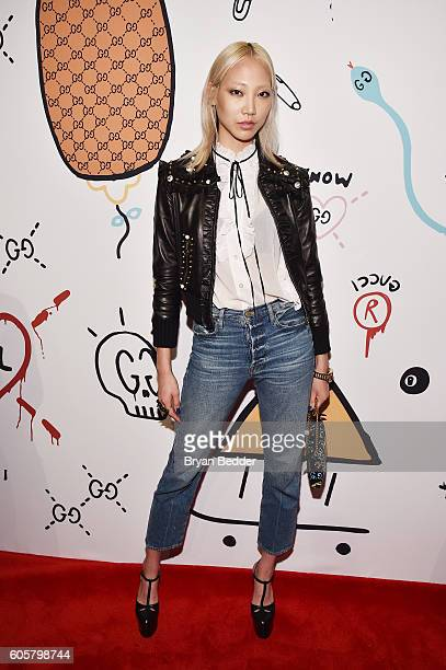 Model Soo Joo Park attends the GucciGhost Global Launch Event on September 14 2016 in New York City
