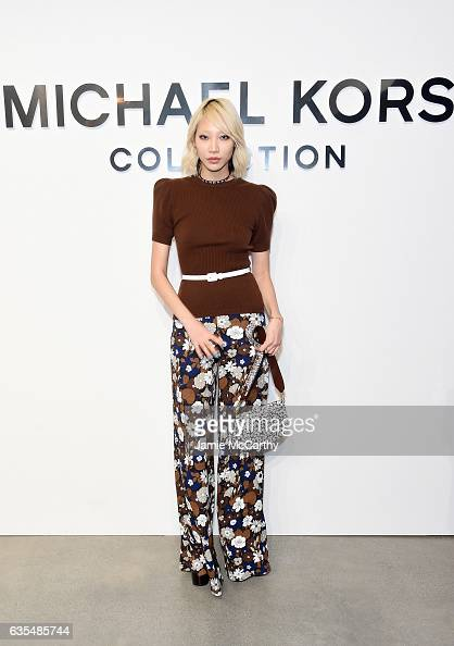 Model Soo Joo Park attends the Michael Kors Collection Fall 2017 runway show at Spring Studios on February 15 2017 in New York City