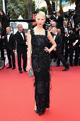 Model Soo Joo Park attends 'The Unknown Girl ' Premiere during the 69th annual Cannes Film Festival at the Palais des Festivals on May 18 2016 in...