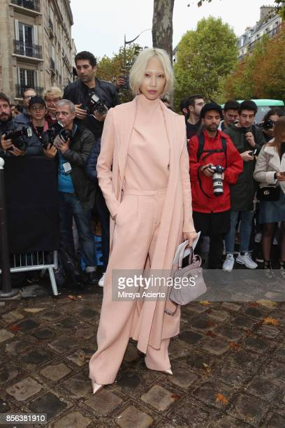 Model Soo Joo Park attends the Valentino show as part of the Paris Fashion Week Womenswear Spring/Summer 2018 on October 1 2017 in Paris France
