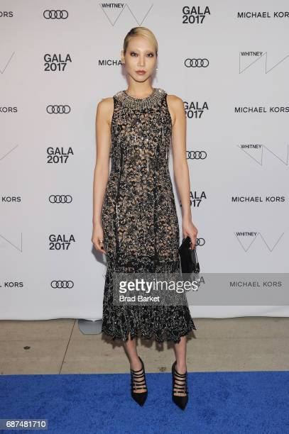 Model Soo Joo Park attends the Whitney Museum's annual Spring Gala and Studio Party 2017 sponsored by Audi and Michael Kors on May 23 2017 in New...