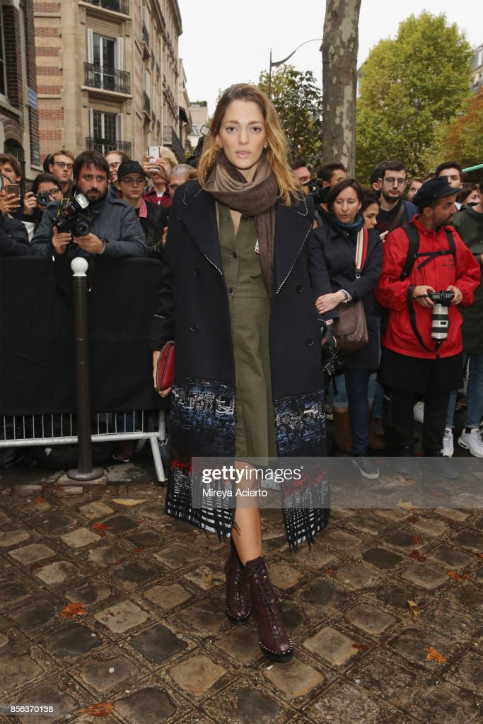 Model, Sophia Sanchez Rodarte, attends the Valentino show as part of the Paris Fashion Week Womenswear Spring/Summer 2018 on October 1, 2017 in Paris, France.