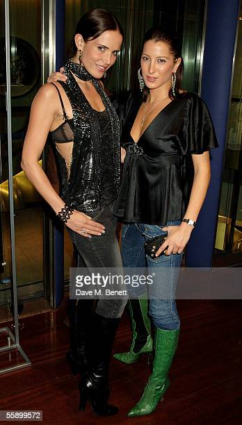 Model Sophie Anderton and Tamara de Bourbon attend the Private View for celebrity photographer Richard Young's new exhibition 'Richard Young Access...