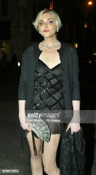 Model Sophie Dahl arrives for the book launch party of her debut novel 'The Man With The Dancing Eyes' at Tiffany Co in London's Old Bond Street The...