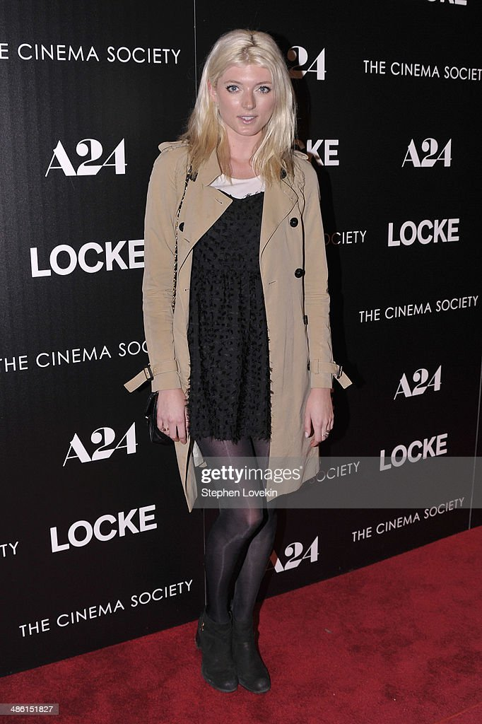 Model <a gi-track='captionPersonalityLinkClicked' href=/galleries/search?phrase=Sophie+Sumner&family=editorial&specificpeople=5960281 ng-click='$event.stopPropagation()'>Sophie Sumner</a> attends the A24 and The Cinema Society premiere of 'Locke' at The Paley Center for Media on April 22, 2014 in New York City.