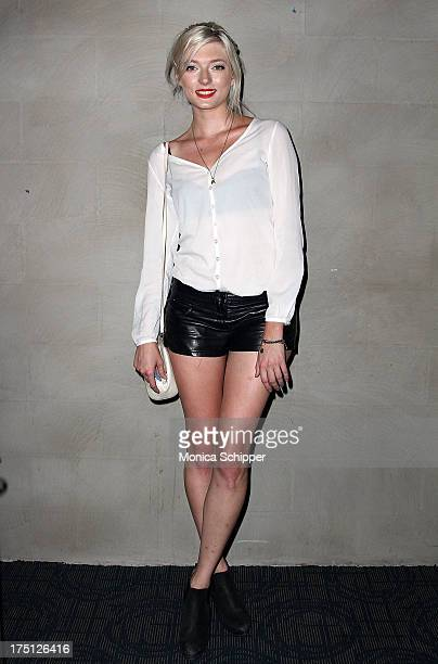 Model Sophie Sumner attends The Cinema Society and Gents screening of Magnolia Pictures' 'Prince Avalanche' at Landmark Sunshine Cinema on July 31...