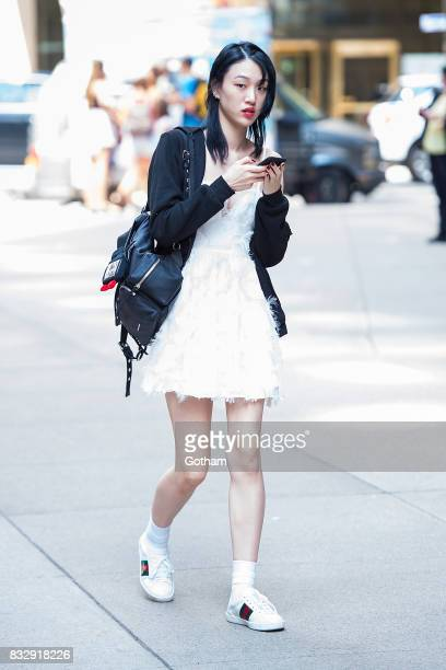 Model Sora Choi attends casting for the 2017 Victoria's Secret Fashion Show in Midtown on August 16 2017 in New York City
