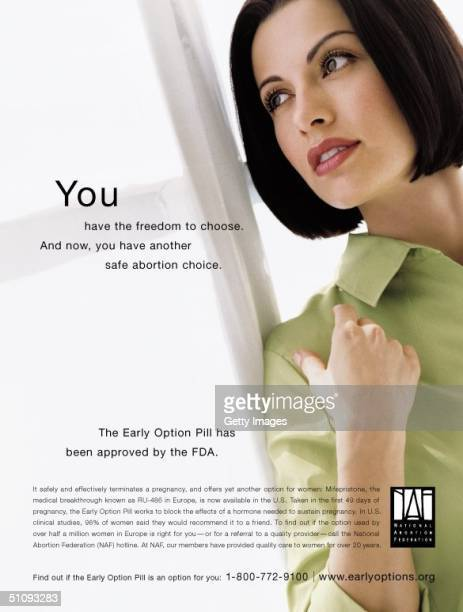 Model Stands By A Curtained Window In The First National Public Service Campaign Print Ad By The National Abortion Federation The Ad Promotes The...