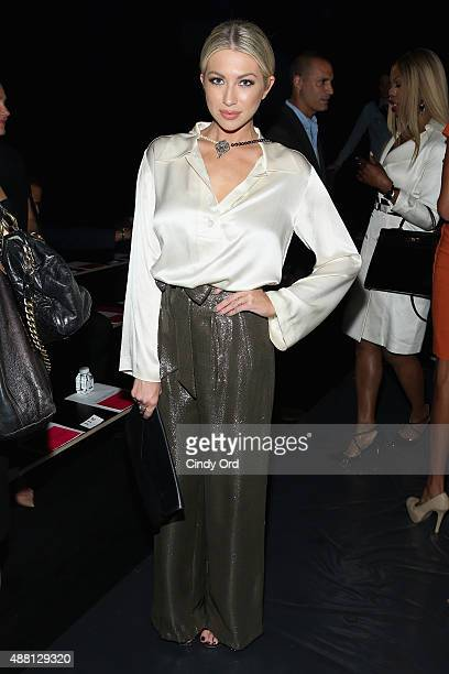 Model Stassi Schroeder attends Georgine Spring 2016 during New York Fashion Week The Shows at The Dock Skylight at Moynihan Station on September 13...