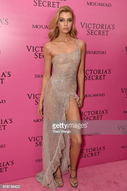 Model Stella Maxwell attends the 2017 Victoria's Secret Fashion Show In Shanghai After Party at MercedesBenz Arena on November 20 2017 in Shanghai...