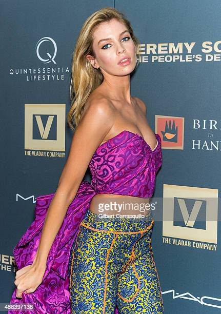 Model Stella Maxwell attends the 'Jeremy Scott The People's Designer' New York Premiere at The Paris Theatre on September 15 2015 in New York City