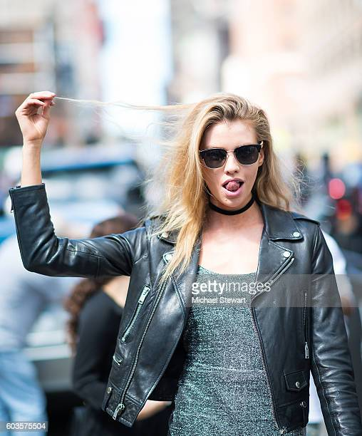 Model Stella Maxwell is seen in Midtown on September 12 2016 in New York City
