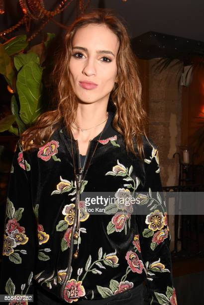 Model Stephanie Rogue from Mademoiselle agency attends the 'Apero Gouter' Cocktail Hosted by Le Grand Seigneur Magazine at Bistrot Marguerite on...