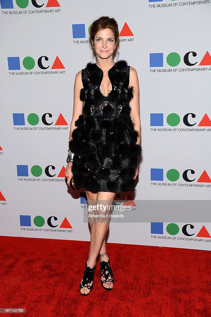 Model Stephanie Seymour arrives at the 'Yesssss!' 2013 MOCA Gala, celebrating the opening of the exhibition Urs Fischer at MOCA Grand Avenue on April 20, 2013 in Los Angeles, California.