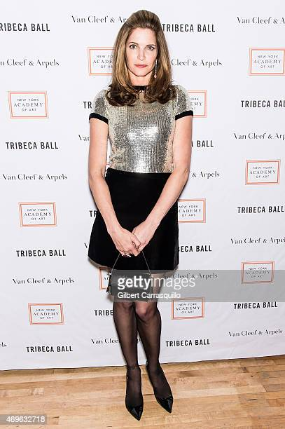 Model Stephanie Seymour attends the 2015 Tribeca Ball at New York Academy of Art on April 13 2015 in New York City
