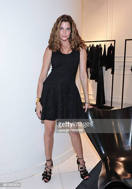Model Stephanie Seymour attends the Hudson's Bay hosts Stephanie Seymour The Face of The Room AW15 campaign at The Room At The Bay on September 8...
