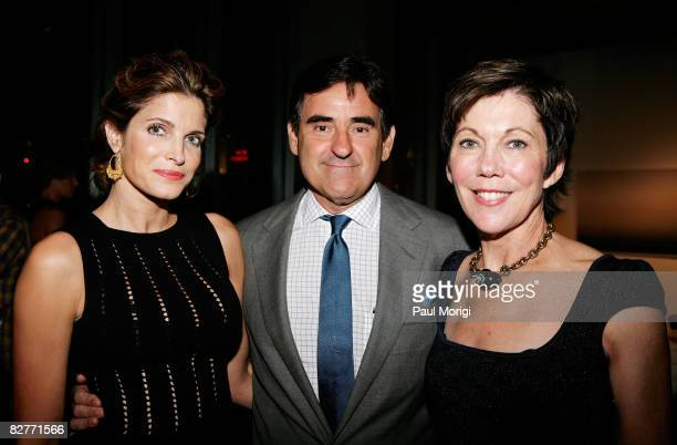 Model Stephanie SeymourBrant publisher Peter Brant and Maureen Case attend Le Mer Celebrates 'Liquid Light' By Fabien Baron at The Glass House on...