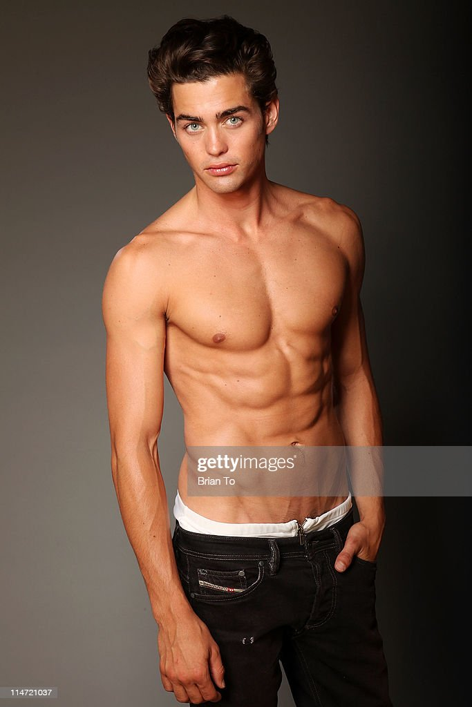 Model Sterling Folkestad poses at private photo shoot on May 24, 2011 in Los Angeles, California.