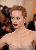 Model Suki Waterhouse attends the 'Charles James Beyond Fashion' Costume Institute Gala at the Metropolitan Museum of Art on May 5 2014 in New York...