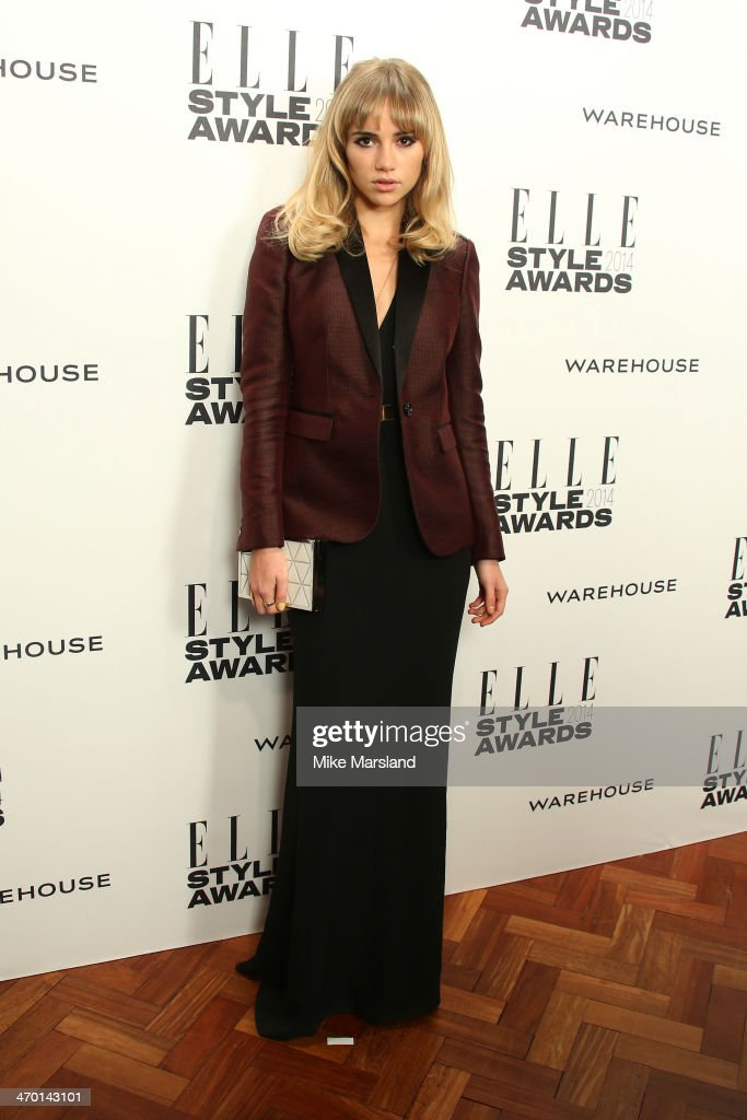 Model <a gi-track='captionPersonalityLinkClicked' href=/galleries/search?phrase=Suki+Waterhouse&family=editorial&specificpeople=7591336 ng-click='$event.stopPropagation()'>Suki Waterhouse</a> attends the Elle Style Awards 2014 at one Embankment on February 18, 2014 in London, England.