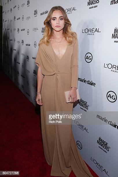 Model Suki Waterhouse attends the inaugural Image Maker Awards hosted by Marie Claire at Chateau Marmont on January 12 2016 in Los Angeles California