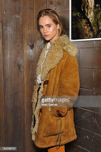 Model Suki Waterhouse attends the 'Scouted' Premiere Party at the Electric Room at Dream Downtown on November 28 2011 in New York City