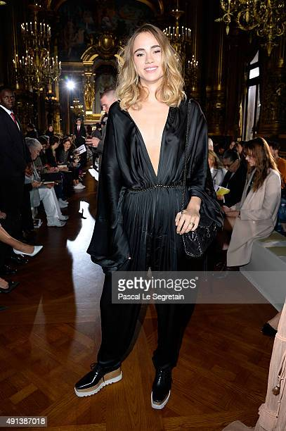 Model Suki Waterhouse attends the Stella McCartney show as part of the Paris Fashion Week Womenswear Spring/Summer 2016 on October 5 2015 in Paris...