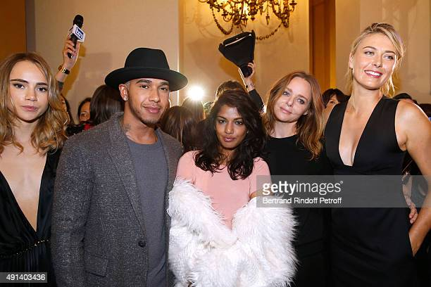 Model Suki Waterhouse Formula One Pilot Lewis Hamilton Singer Mathangi 'Maya' Arulpragasam alias MIA Fashion Designer Stella McCartney and Tennis...