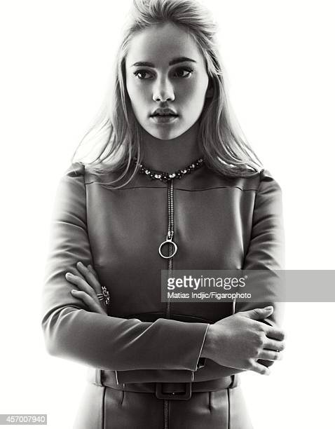 Model Suki Waterhouse is photographed for Madame Figaro on May 27 2014 in Cannes France Dress jewelry CREDIT MUST READ Matias...