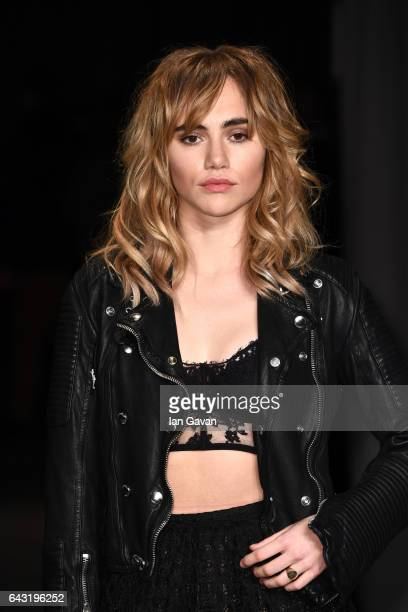 Model Suki Waterhouse wearing Burberry attends the Burberry February 2017 Show during London Fashion Week February 2017 at Makers House on February...