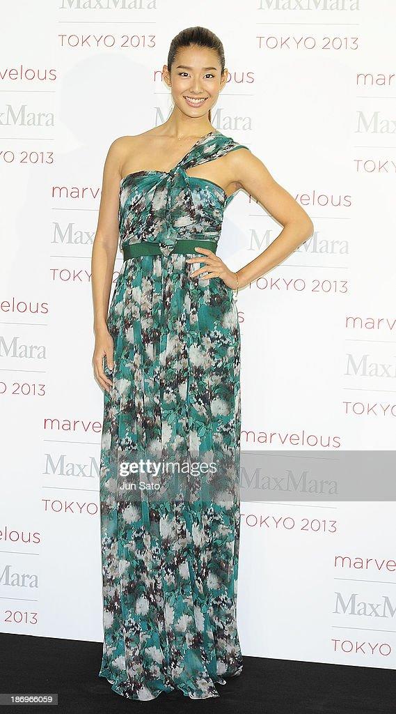 Model Sumire attends a photocall of Marvelous Max Mara Tokyo 2013 at Ryogoku Kokugikan on November 5, 2013 in Tokyo, Japan.