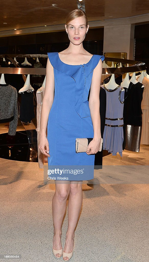 Model Suvi Riggs attends Leslie Zemeckis' book signing for 'Behind the Burly Q' at Alberta Ferretti Boutique on November 14, 2013 in West Hollywood, California.