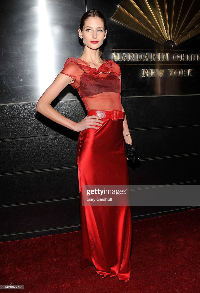 Model Suzanne Diaz attends the 9th annual Spring Dinner Dance New Year's In April: A Fool's Fete at the Mandarin Oriental Hotel on April 10, 2012 in New York City.