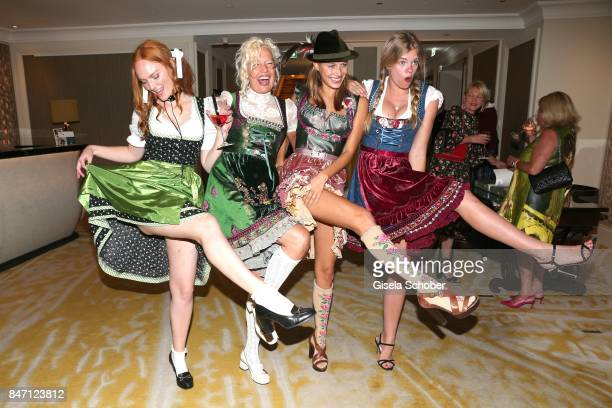 Model Sylvia Flote Photographer Ellen von Unwerth and Nico Mary and Valeria during the 'Ellen von Unwerth HEIMAT' Exhibition Opening after party at...