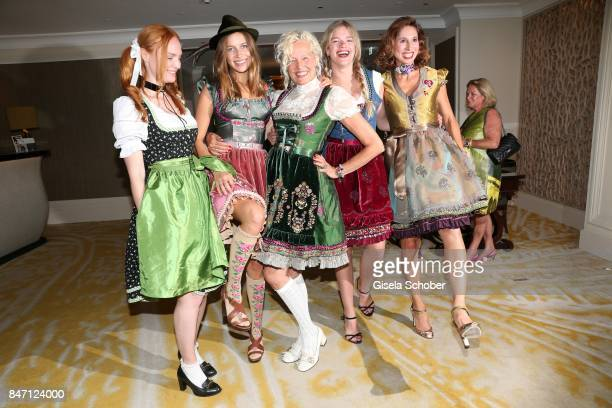Model Sylvia Flote Photographer Ellen von Unwerth and Nico Mary and Valeria and Dirndl Fashion designer Lola Paltinger during the 'Ellen von Unwerth...