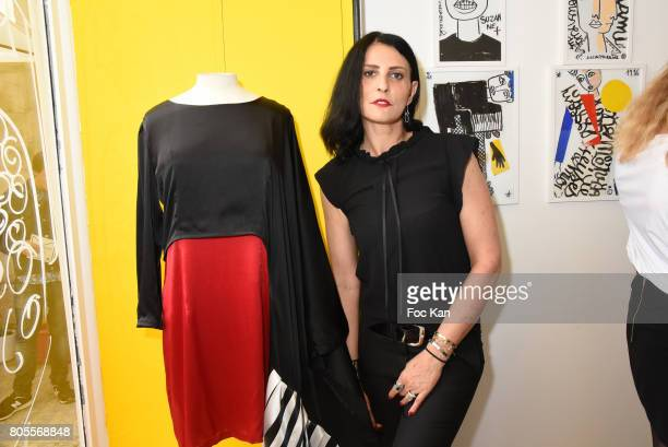 Model Sylvie Ortega Munos attends '40 Passages' Jean Charles de Castelbajc Exhibition Preview at Galerie Mannerheim on July 1 2017 in Paris France