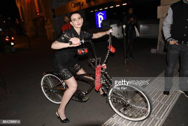 Model Sylvie Ortega Munos attends the 'Partie de Rien D'Une Poignee D'Or' By les Diamants de L Orient Fashion Show at Hapsatou Sy Show Room in Paris...