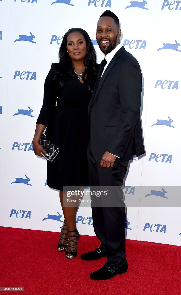 Model Talani Rabb and recording artist RZA attend PETA's 35th Anniversary Party at Hollywood Palladium on September 30 2015 in Los Angeles California