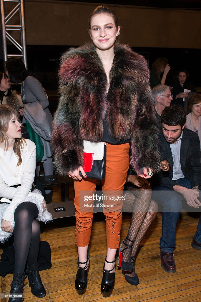 Model Tali Lennox attends Philosophy By Natalie Ratabesi during fall 2013 Mercedes-Benz Fashion Week on February 13, 2013 in New York City.