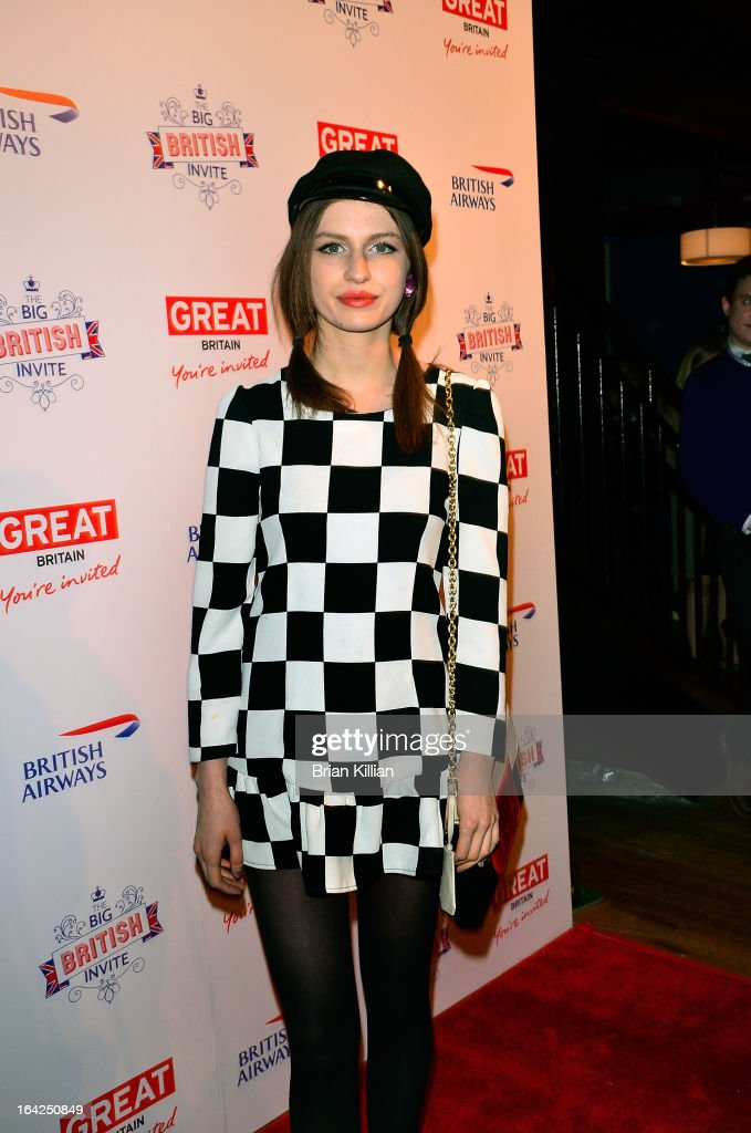 Model Tali Lennox attends The Big British Invite launch at 78 Mercer Street on March 21, 2013 in New York City.