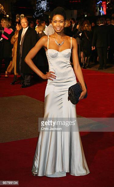 Model Tallulah Adeyemi attends the World Premiere of 'Nine' at Odeon Leicester Square on December 3 2009 in London England