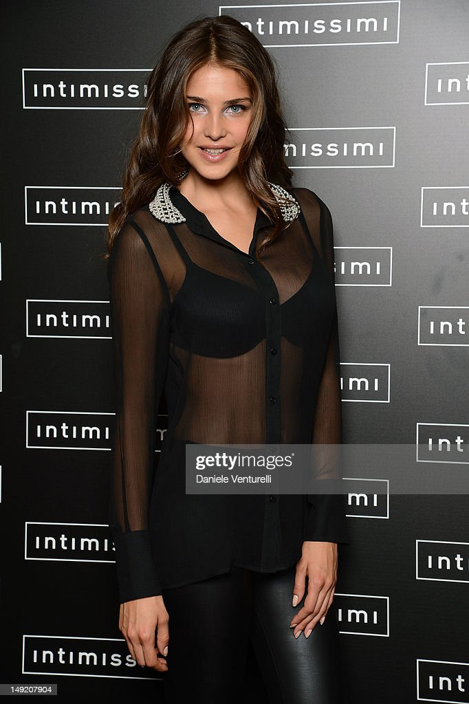 Model Tamara Lazic attends the 'Intimissimi Fall/Winter 2013 Fashion Show' on July 25, 2012 in Verona, Italy.