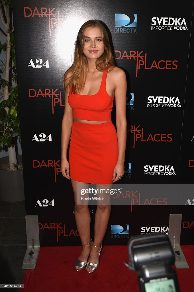 Model Tanya Mityushina attends the premiere of DIRECTV's 'Dark Places' at Harmony Gold Theatre on July 21, 2015 in Los Angeles, California.