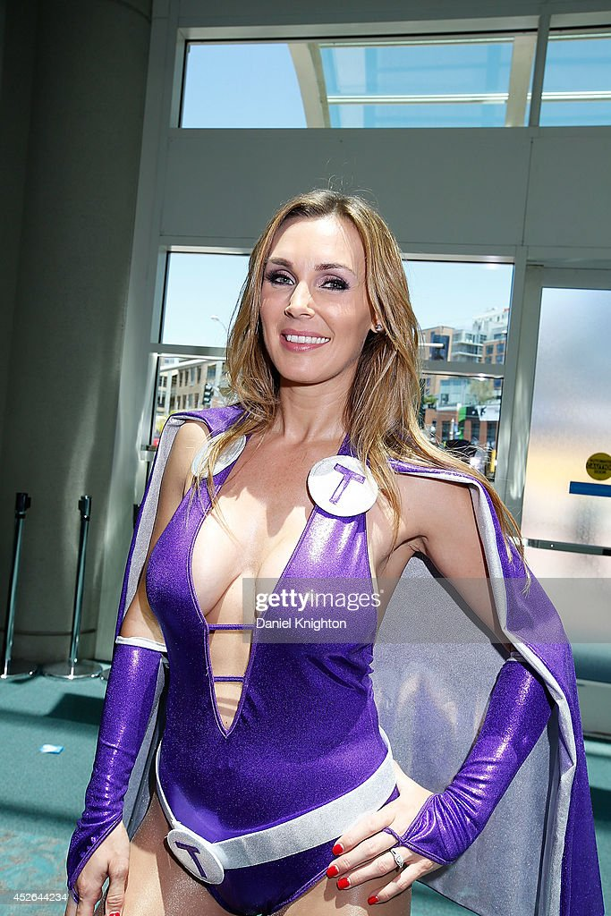 Model Tanya Tate attends Comic-Con International at San Diego Convention Center on July 24, 2014 in San Diego, California.