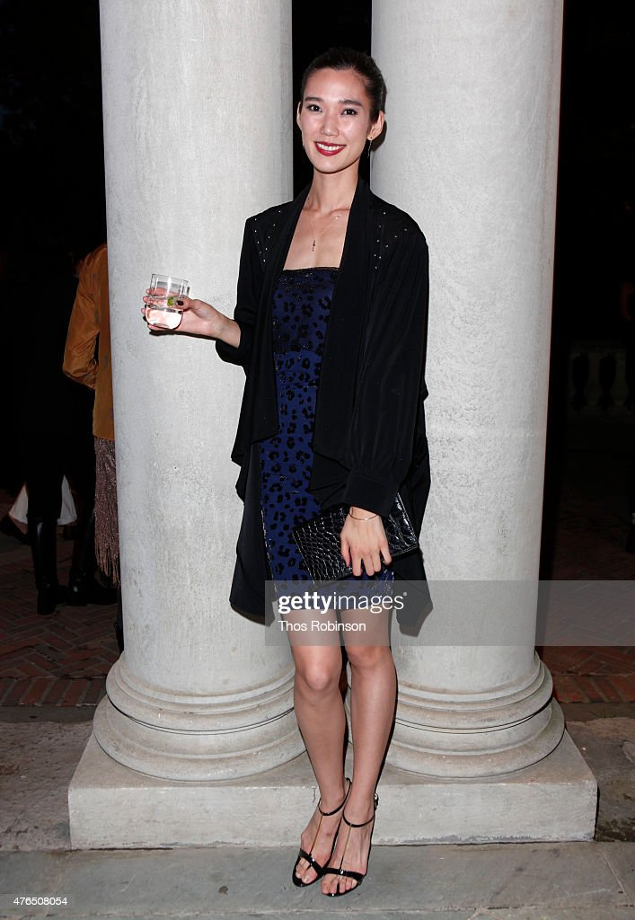Model Tao Okamoto attends a celebration for the collaboration of Francois Nars And Steven Klein at Alder Manor on June 9 2015 in Yonkers New York