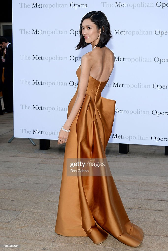 Model Tao Okamoto attends the Metropolitan Opera Season Opening at The Metropolitan Opera House on September 22 2014 in New York City