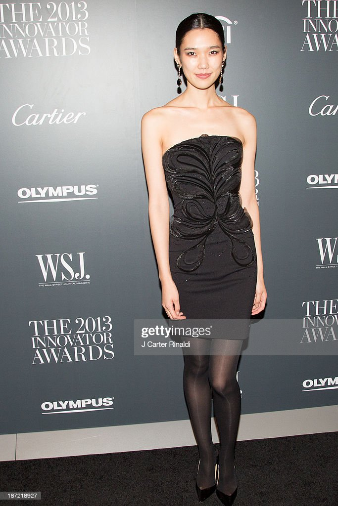 Model <a gi-track='captionPersonalityLinkClicked' href=/galleries/search?phrase=Tao+Okamoto&family=editorial&specificpeople=6147528 ng-click='$event.stopPropagation()'>Tao Okamoto</a> attends the WSJ. Magazine's 'Innovator Of The Year' Awards 2013 at The Museum of Modern Art on November 6, 2013 in New York City.
